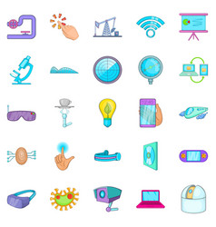 Progressive icons set cartoon style vector
