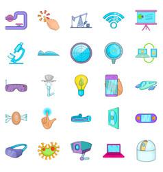 Progressive icons set cartoon style vector