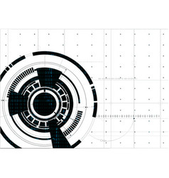 Technological abstract white digital hud vector