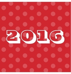 Theme 2016 Text Background Merry Christmas and vector image