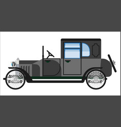 Vintage gray car vector