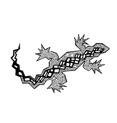 Zentangle stylized lizard coloring page vector