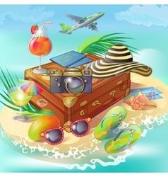 Travel island concept vector
