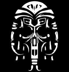 Ancient ethnic skull vector