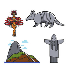 Brazilian traditional symbols vector
