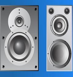 2 loudspeaker cabinets vector