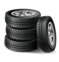 Tire Set vector image