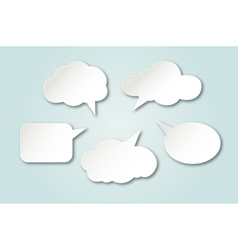 White paper bubbles for speech vector image