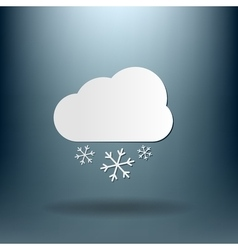 Weather icon cloud snow vector