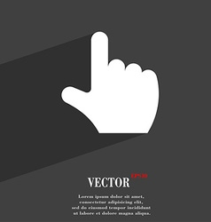 Pointing hand icon symbol flat modern web design vector