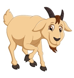 Cartoon goat character vector