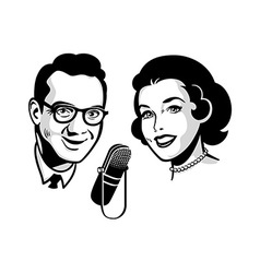 Retro talk show vector