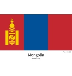 National flag of mongolia with correct proportions vector