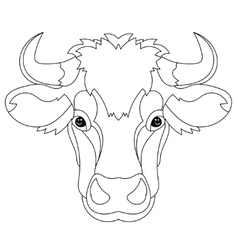 Hand drawn doodle outline cow head vector