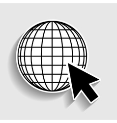 Earth globe with cursor vector