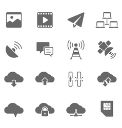 Icon set - network communication vector