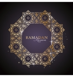 Ramadan kareem greeting template vector