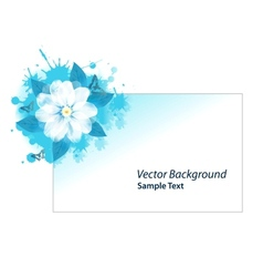 Blue grunge card vector image vector image