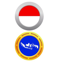 button as a symbol INDONESIA vector image vector image