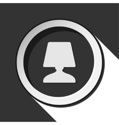 Dark gray icon with bedside table lamp vector