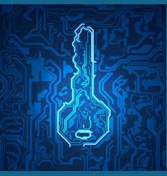 electronic key vector image vector image