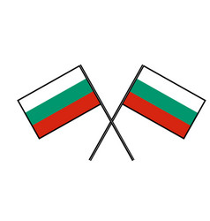 flag of bulgaria stylization of national banner vector image