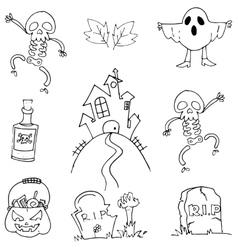 Flat doodle halloween element vector