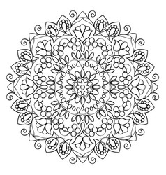 Floral mandala round pattern vector