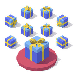 gift box with lid vector image vector image