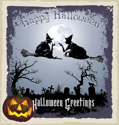 halloween greeting vector image