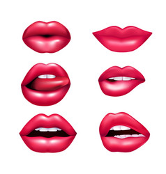lips mimic set vector image vector image