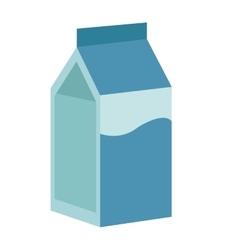 milk carton icon vector image vector image