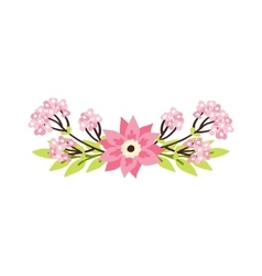 Nature flowers wreath with flowers decoration vector image vector image