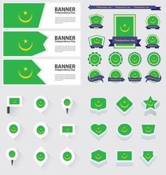 Set mauritania vector