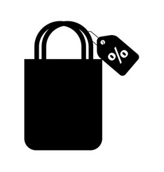 Shopping bag with percent symbol vector
