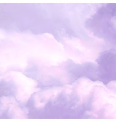 White Sky and pink Clouds vector image