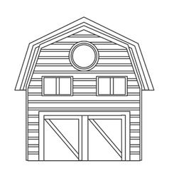 Wooden barn icon vector
