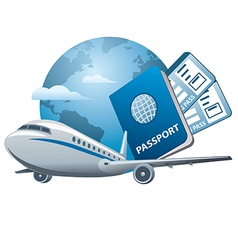 Air travel icon vector