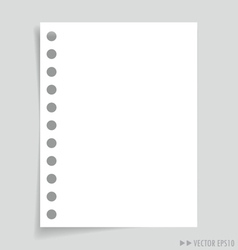 Empty message white papers vector