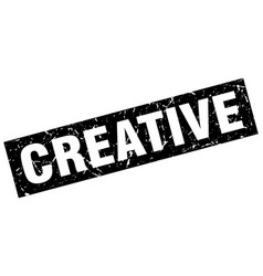 Square grunge black creative stamp vector