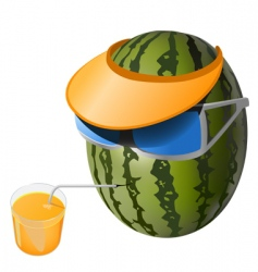 melon vacation vector image