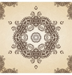 Filigree henna pattern vector