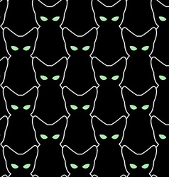 Black cat seamless pattern backgrounds for vector