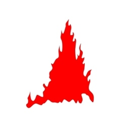Fire red silhouette vector