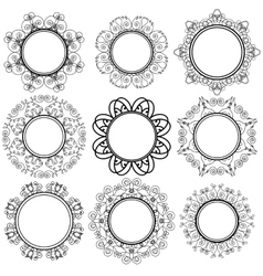 Set of circle geometric ornaments vector