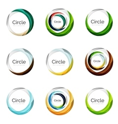 Set of abstract swirls and circles logo vector