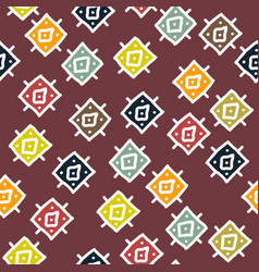 Abstract background with seamless african pattern vector