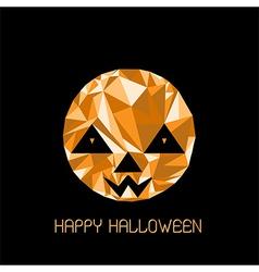 Abstract cute halloween character pumpkin vector
