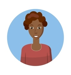 African american woman avatar icon cartoon style vector