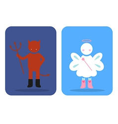 angel devil vector image vector image